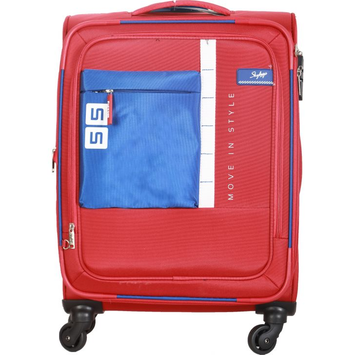 Skybags Dubstep 4W Expandable Soft Trolley 58 cm (Rave Red)