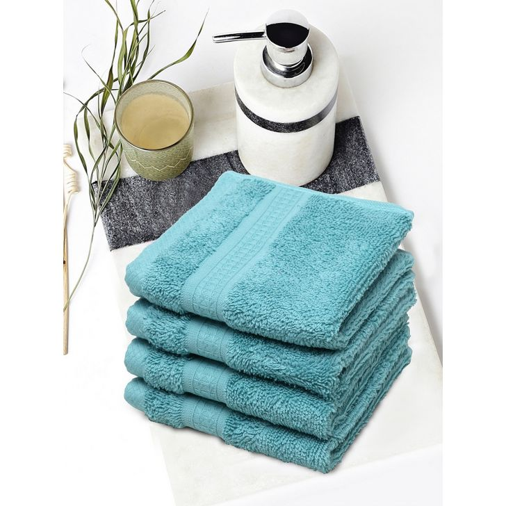 Spaces Cotton Face Towel in Ocean Colour by Spaces