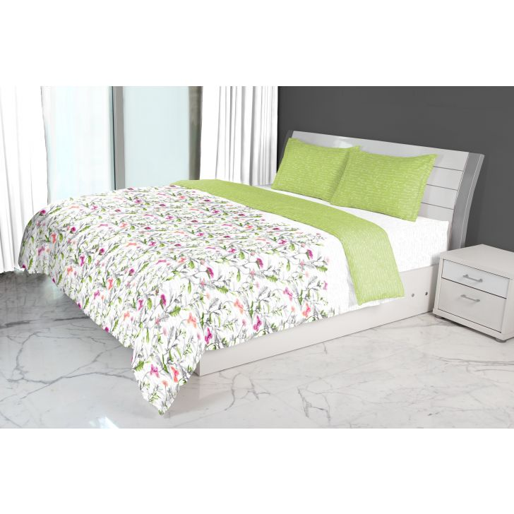 Nora Butterfly Printed Double Comforter Green