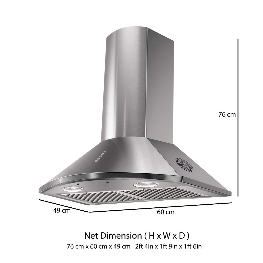 Faber Stainless steel Chimney Tender 3D T2S2 Max LTW 60 by HomeTown