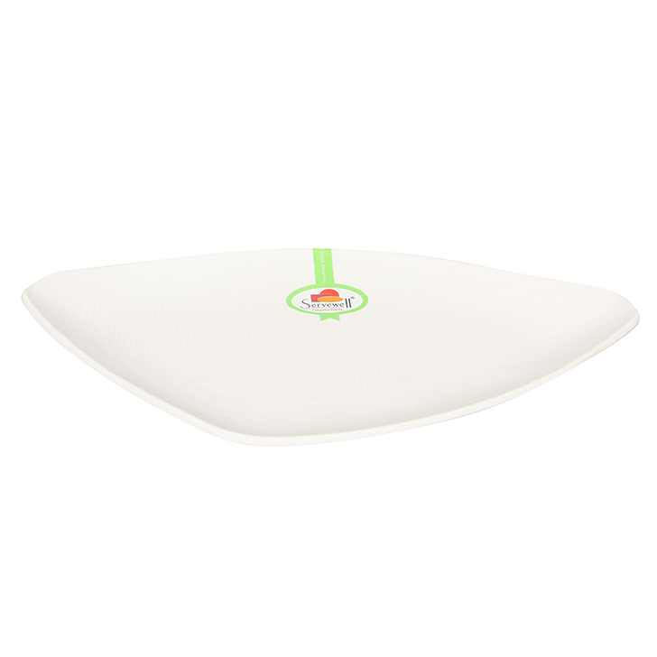 Triangular White Platter Large Bowls in White Colour by Living Essence