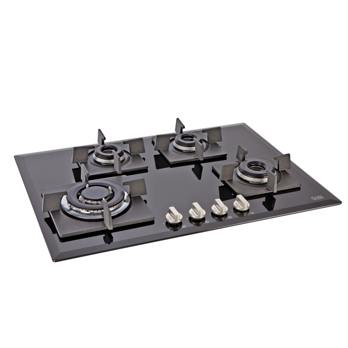 Glen 4 Burner Built in Glass Hob 1074 by Glen