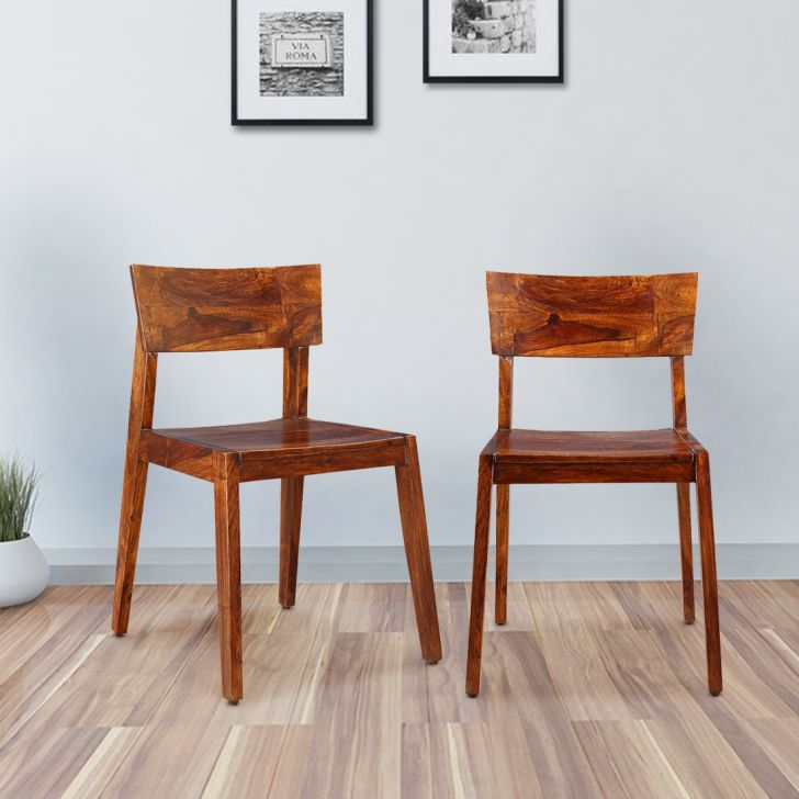 Karent Sheesham Wood Dining Chair Set of Two in Teak Colour by HomeTown