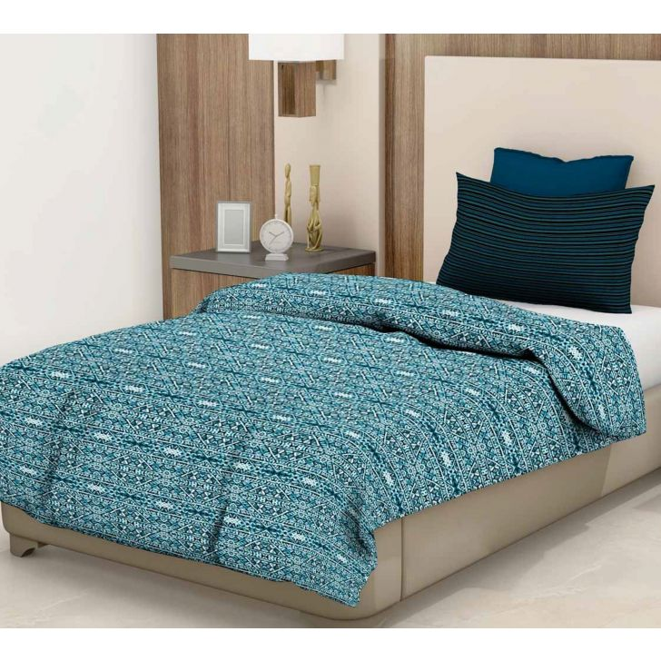 Epitome Cotton Single Bedsheet in Blue Colour by Trident