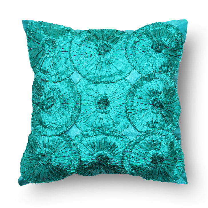Living Essence Polyester Cushion Covers in Teal Colour by Living Essence