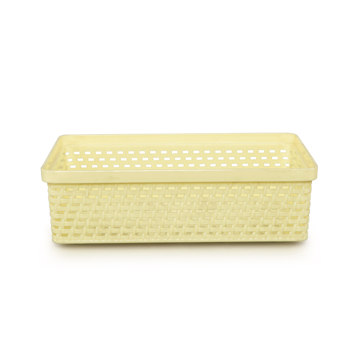 DKW Senn Storage Basket Xs Yellow Plastic Kitchen Storage in Yellow Colour by DKW