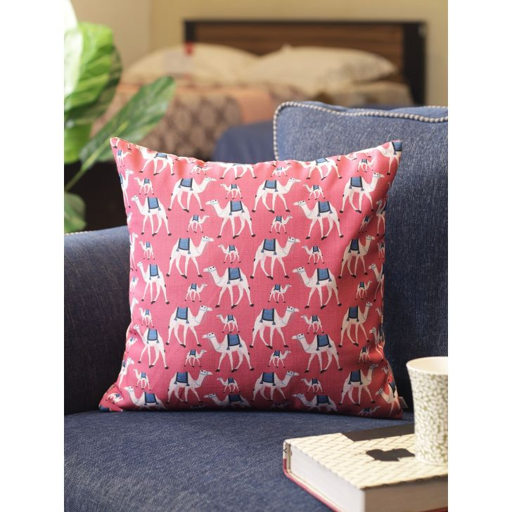 Folklore Digital Cushion Cover 16X16 CM in Multi Colour by Living Essence