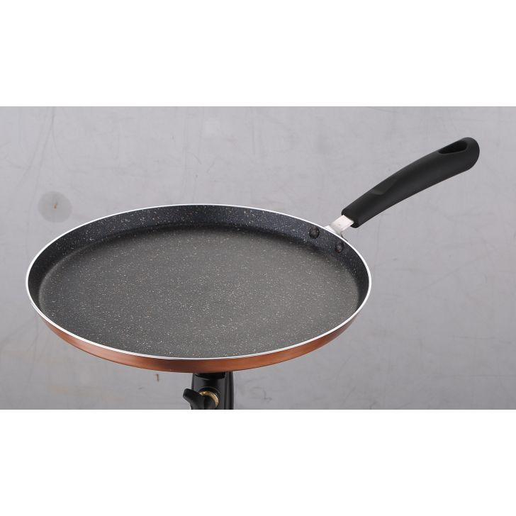 Natura Flat Cookware in Copper and black Colour by Living Essence