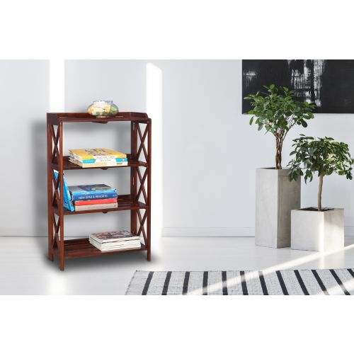 Travis Sheesham WoodRosewood Book Shelf In Brown Colour By HomeTown