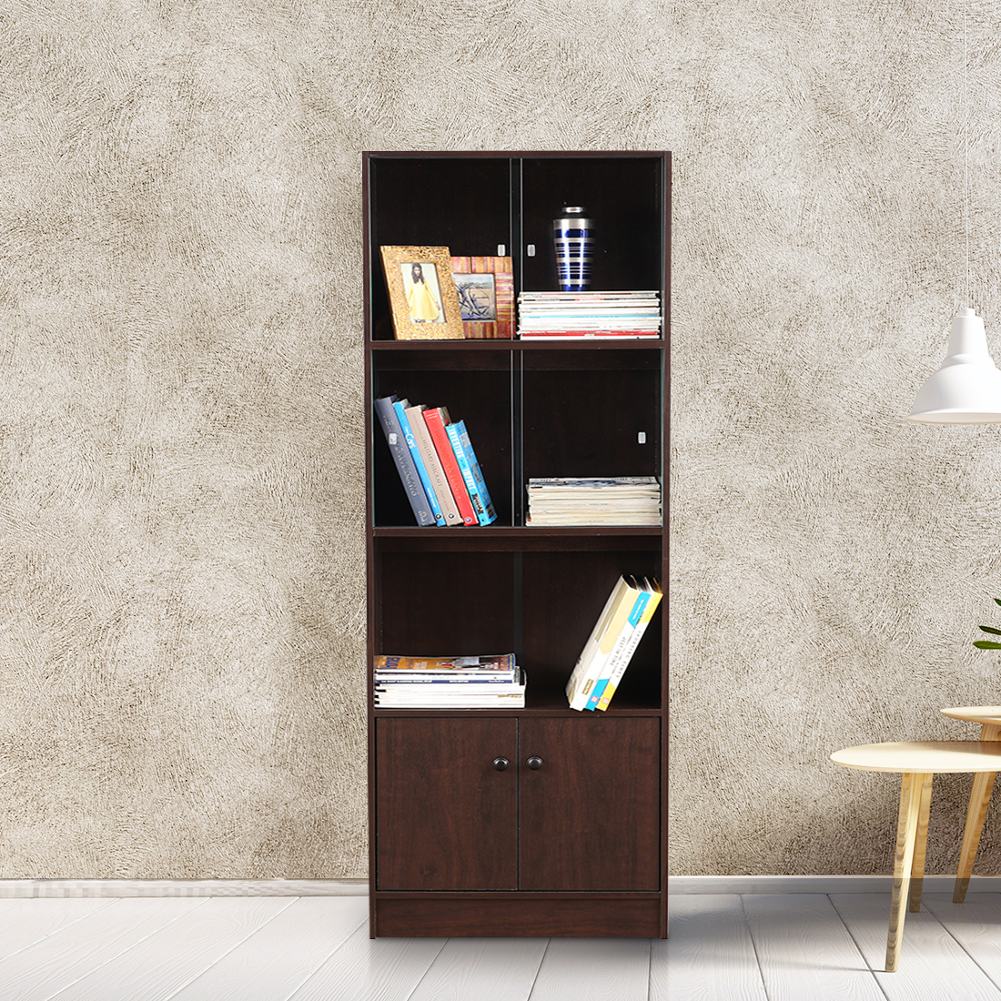 Crony Engineered Wood Book Shelf in Wenge Colour by HomeTown