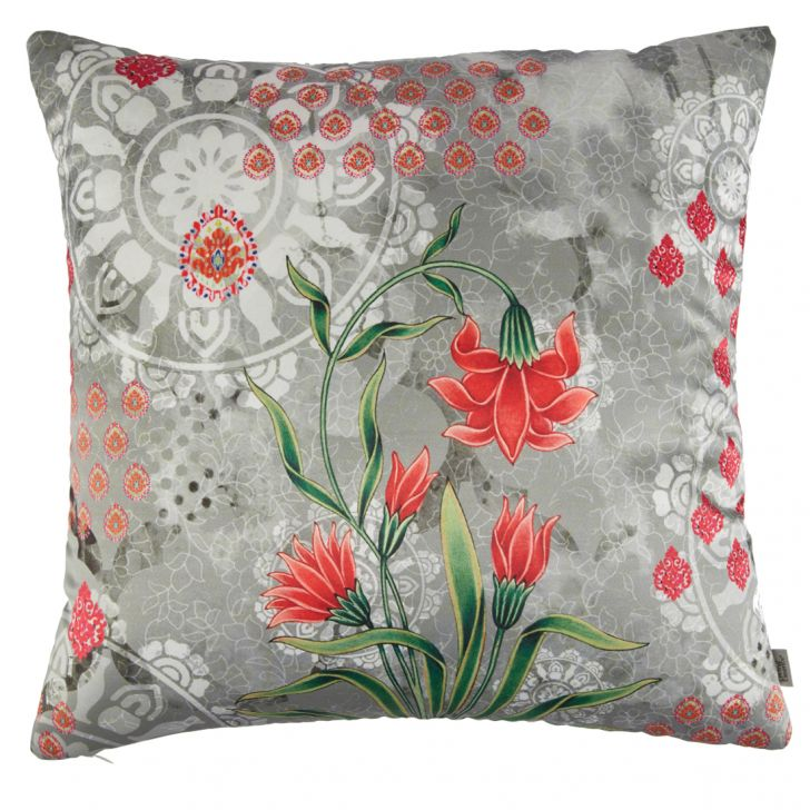 Digital Cushion Cover Butta Cushion Covers in Poly Satin Colour by Living Essence