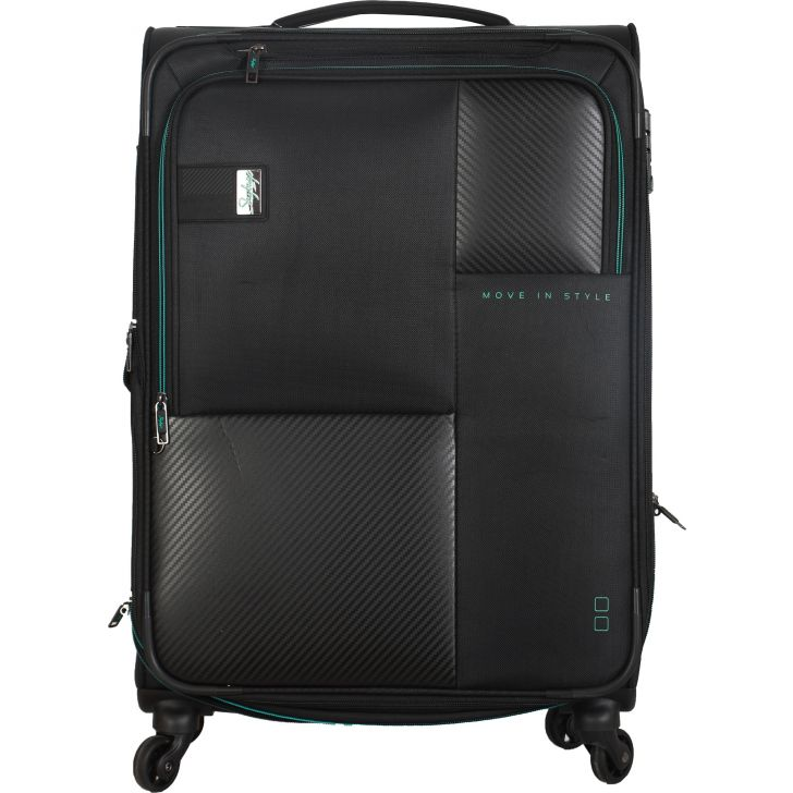 Skybags Cardinal 4W Expandable 70 CM Soft Trolley (Black)