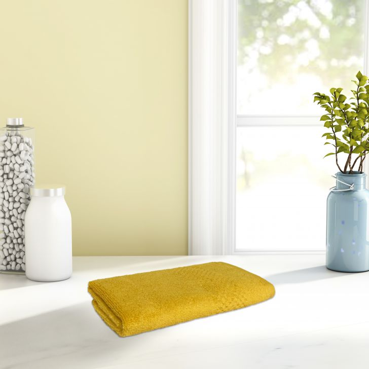 Spaces Cotton Hand Towel in Sunflower Colour by Spaces