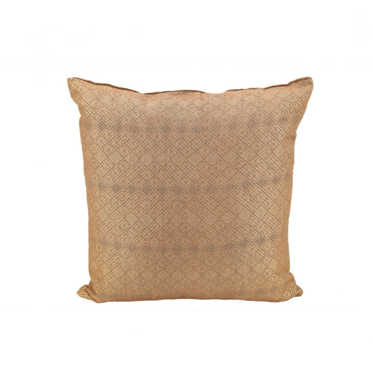 Miraya Brown Beige Polyester Filled Cushions in Brown Beige Colour by Living Essence