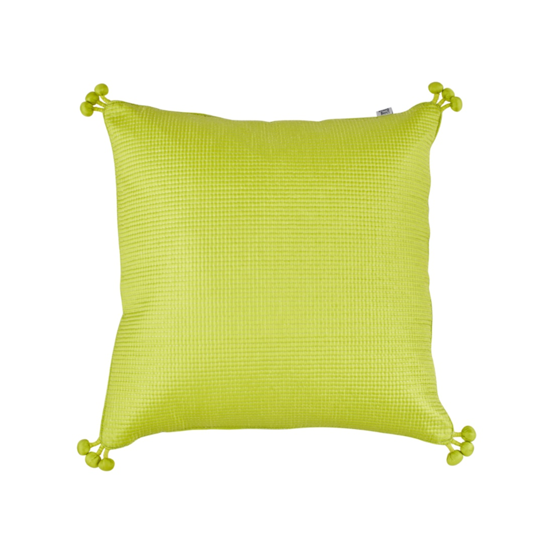 Pompom Cushion Cover 40X40 Cm Citron Silver Polyester Cushion Covers in Citron Silver Colour by Living Essence
