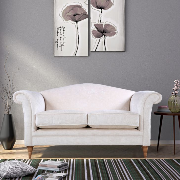 Gloucester Fabric 2 Seater Sofa in Off White Colour