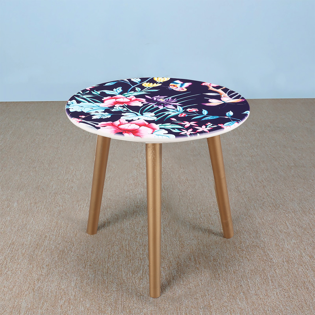 Ardina Engineered Wood Side Table in Blue Colour by HomeTown