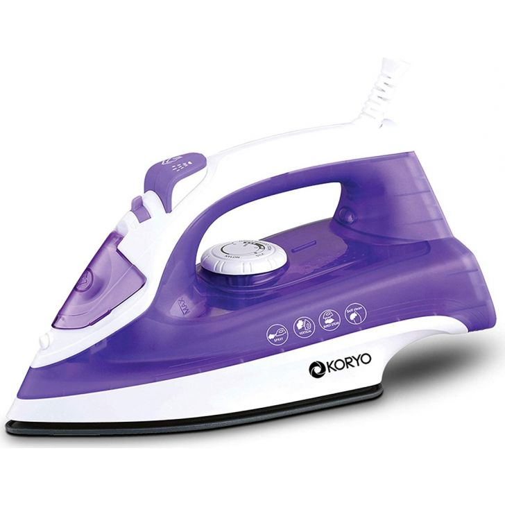 Vertical Steam Iron With Self Clean Technology (1600) - Purple by Koryo