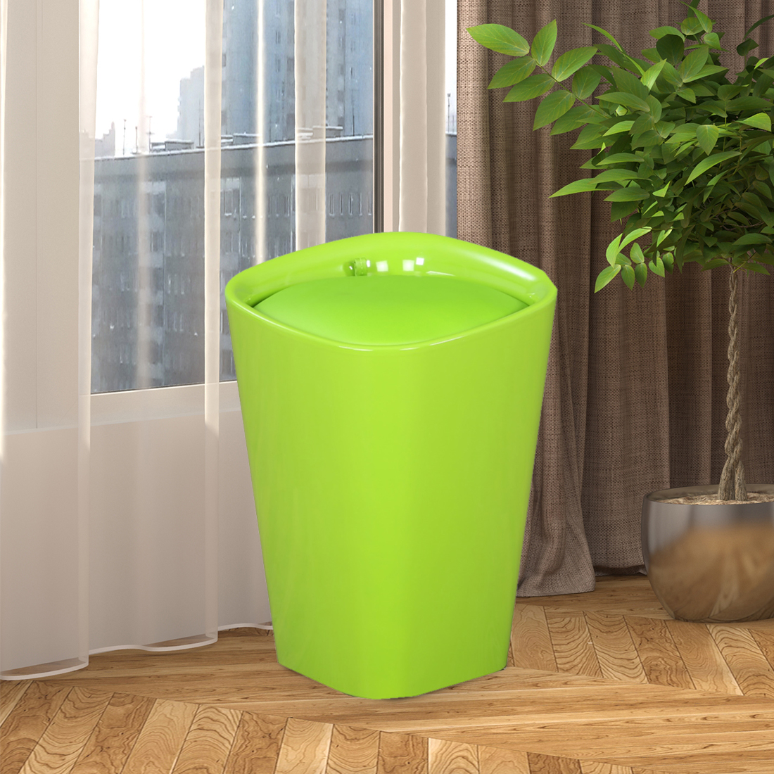 Ludo ABS Stool in Green Colour by HomeTown