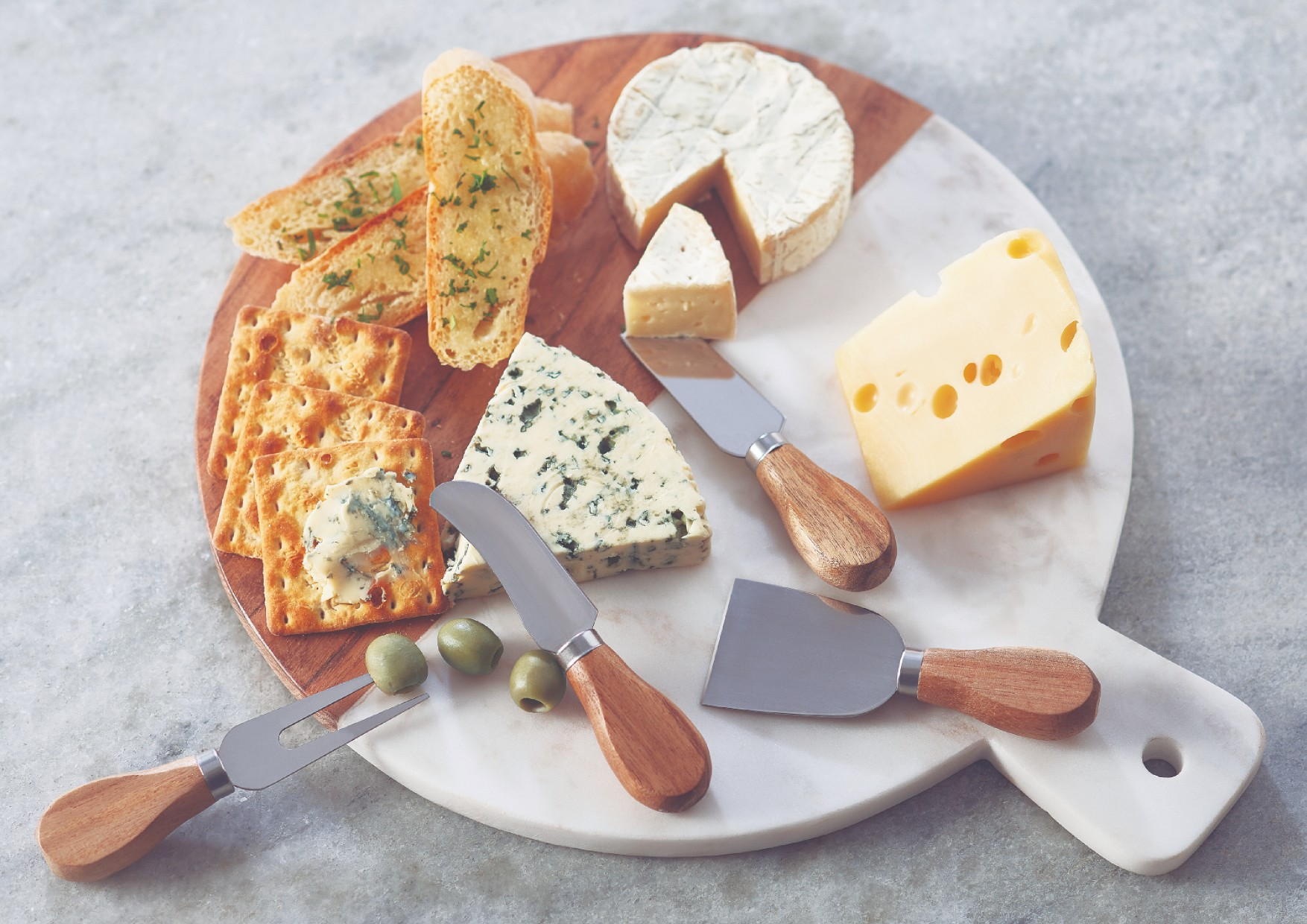 Cheese Knives Set Serving Sets in Natural Wood Colour by Songbird