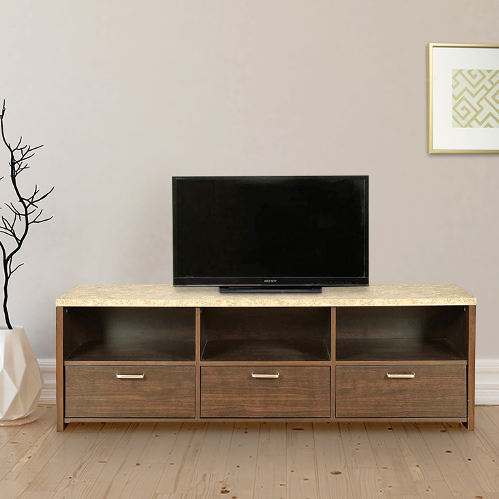 Murano Engineered Wood TV Unit in Wenge Colour by HomeTown