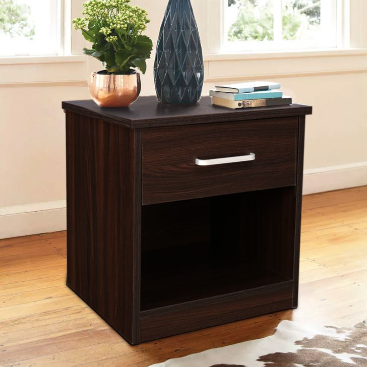 Magnolia Engineered Wood Bedside Table in Oak Colour by HomeTown