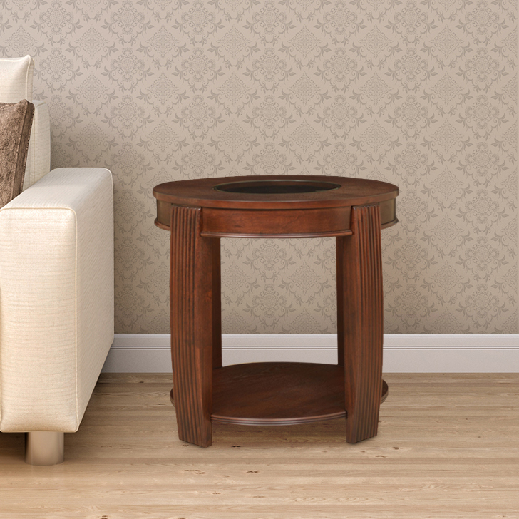 Marion Engineered Wood End Table in Cherry Colour by HomeTown