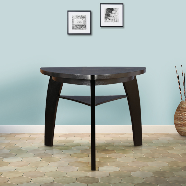 Anderson Solid Wood Four Seater Dining Table in Dark Brown Colour by HomeTown