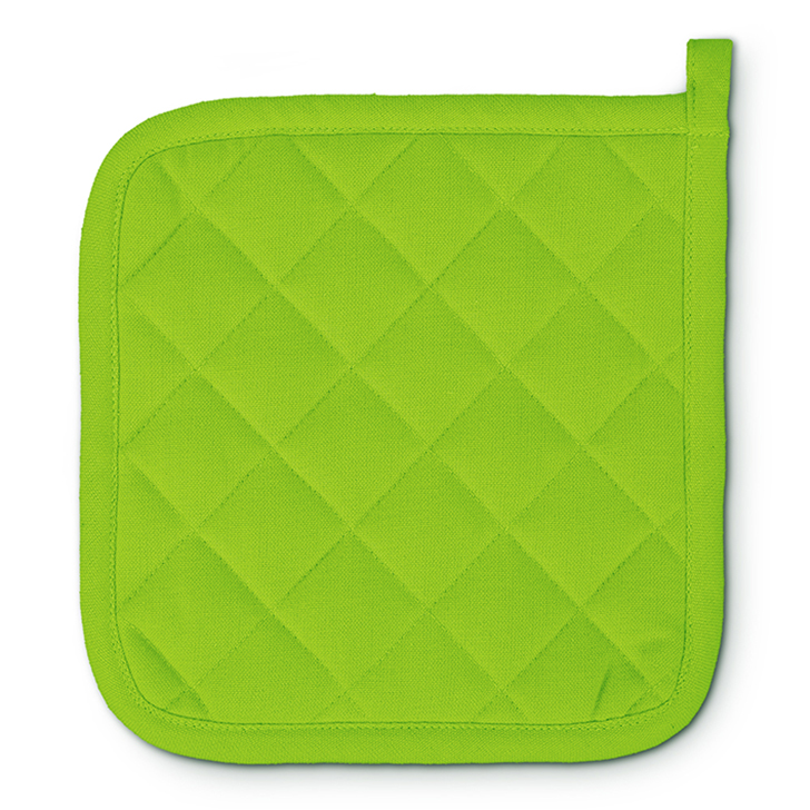 Solid Cotton Pot Holder Green Cotton  in Green Colour by Living Essence