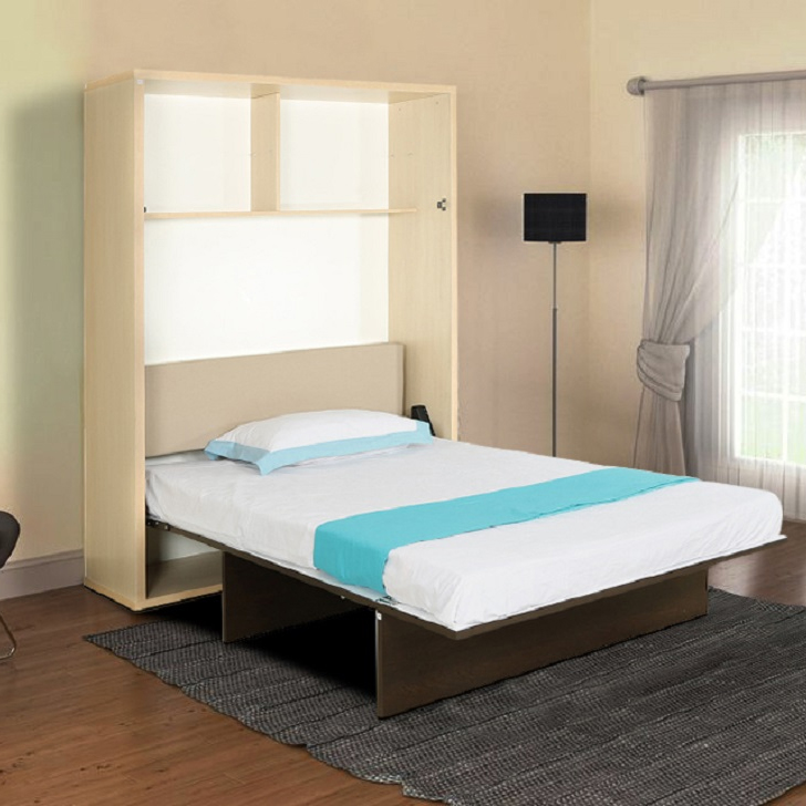 Glen Engineered Wood Single Bed in Doughlas Pine & Wenge & Frosty White Colour by HomeTown
