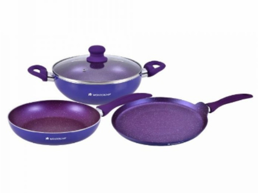 Blueberry Cookware Set Aluminium Cookware Sets in Blue Colour by Wonderchef