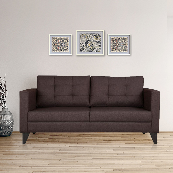 Castellar Three Seater Sofa in Brown Colour by HomeTown