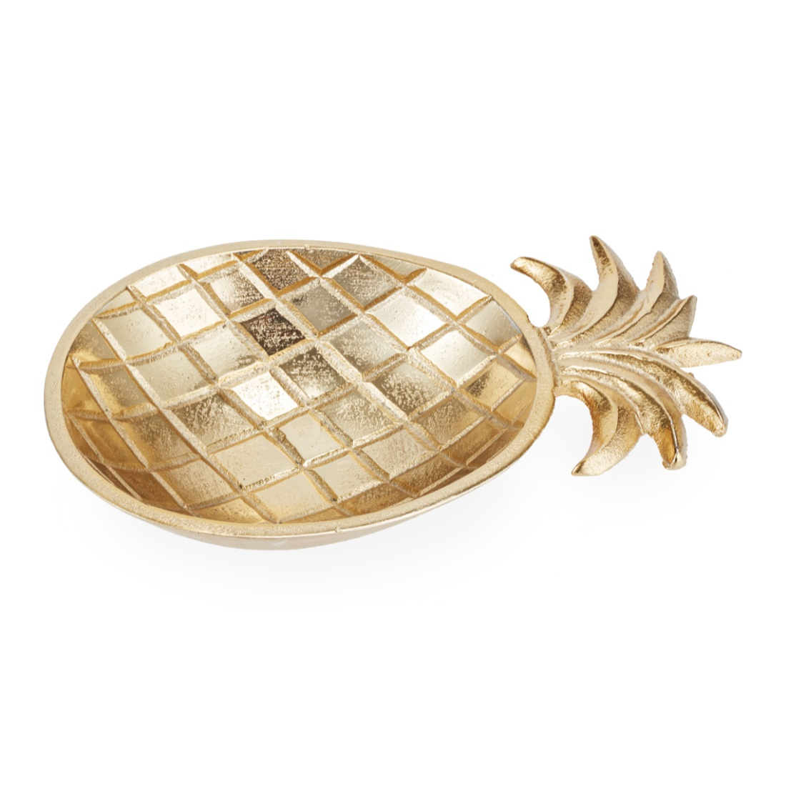 Aspen Pineapple Plater Small Gold Glass Table D in Gold Colour by Living Essence