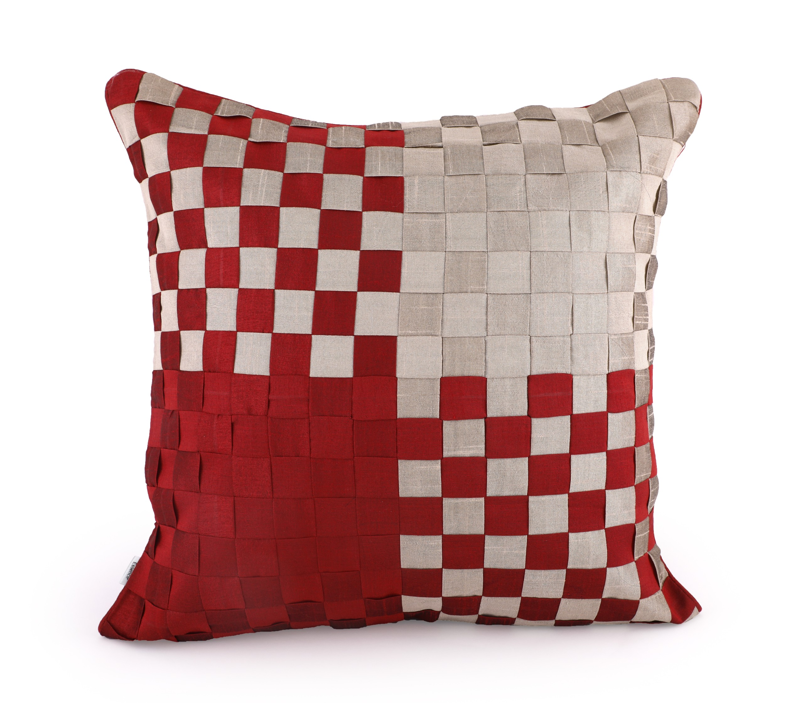 Basket Maroon Cushion Cover Cotton Cushion Covers in Maroon Colour by HomeTown