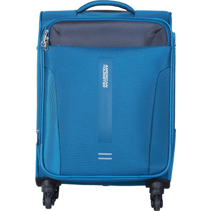 Madison Polyester Soft Trolley in Blue Colour by American Tourister