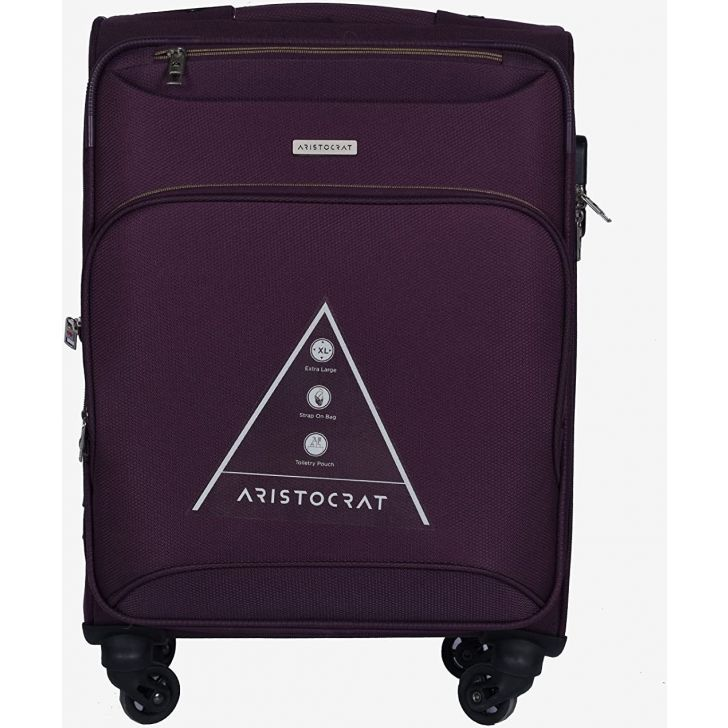 Valentina 59 cm Polyester Soft Trolley in Purple Colour by ARISTOCRAT