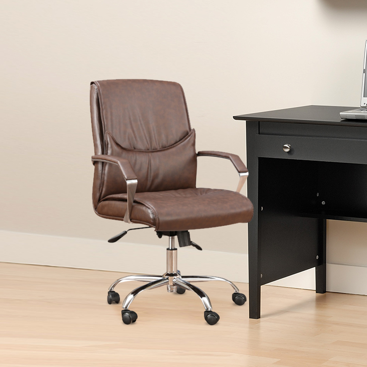 Awana Engineered Wood Office Chair in Black Colour by HomeTown