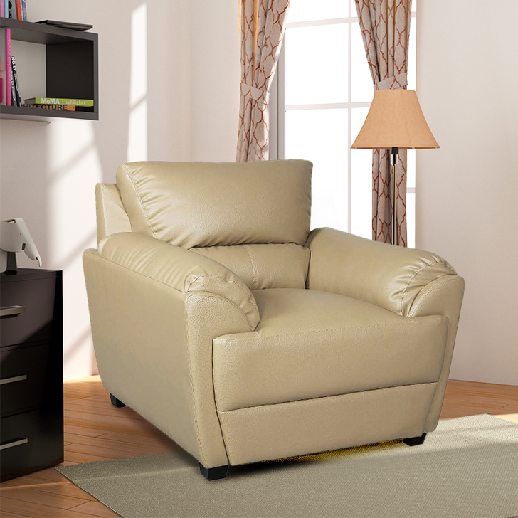 Taylor Single Seater Sofa in Butterscotch Colour by HomeTown