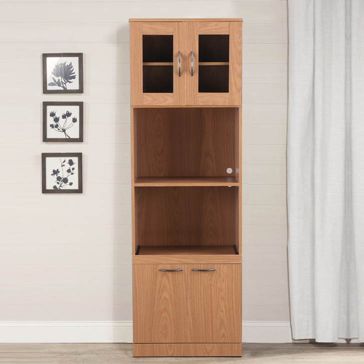 Penelope Engineered Wood Multipurpose Cabinet in Walnut Colour by HomeTown