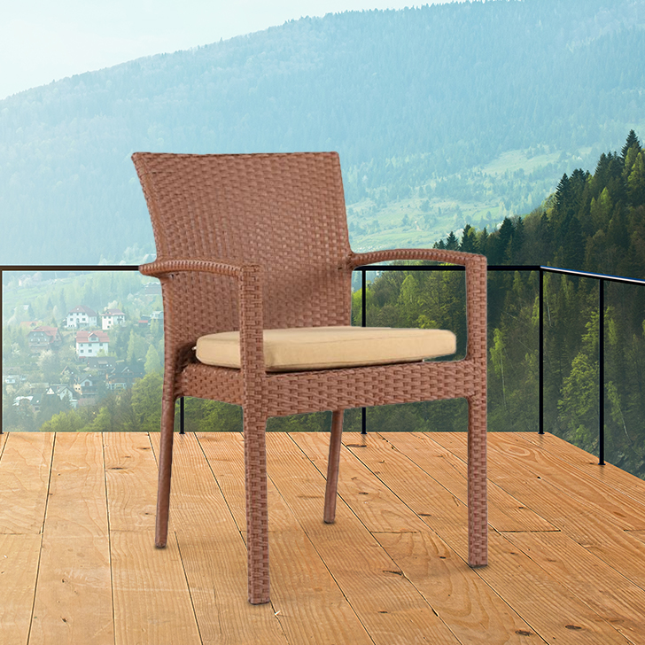 Eden Polyurethane Outdoor Chair in Rosegold Color by HomeTown