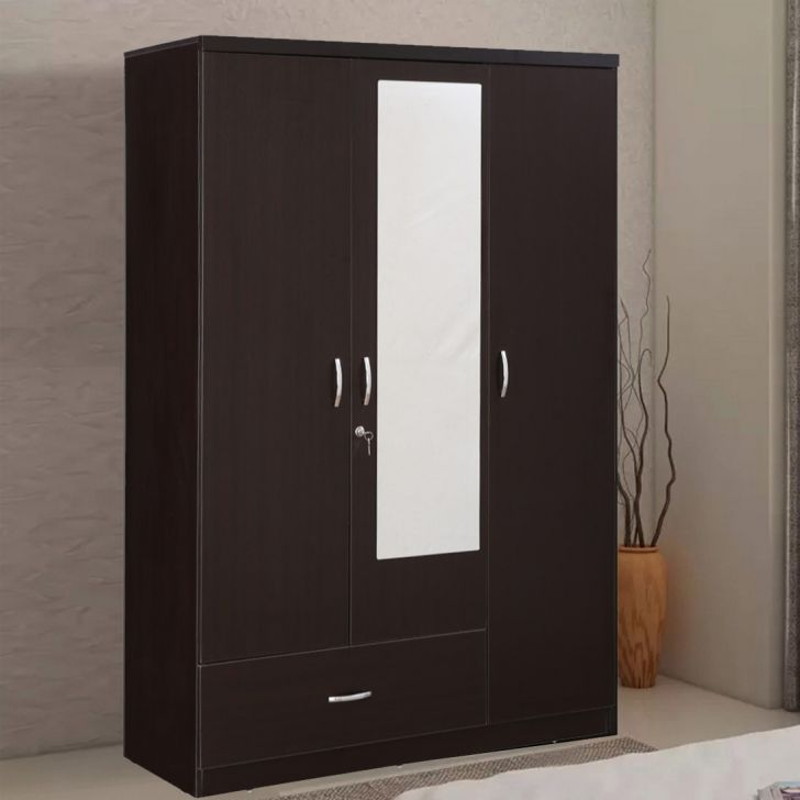 Utsav Engineered Wood Three Door Wardrobe in Wenge Color by HomeTown