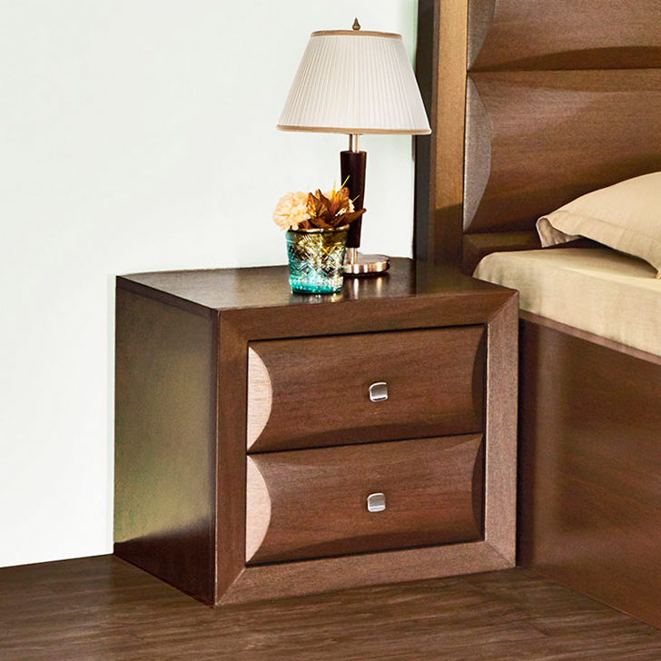 Cambry Engineered Wood Bedside Table in White Colour by HomeTown
