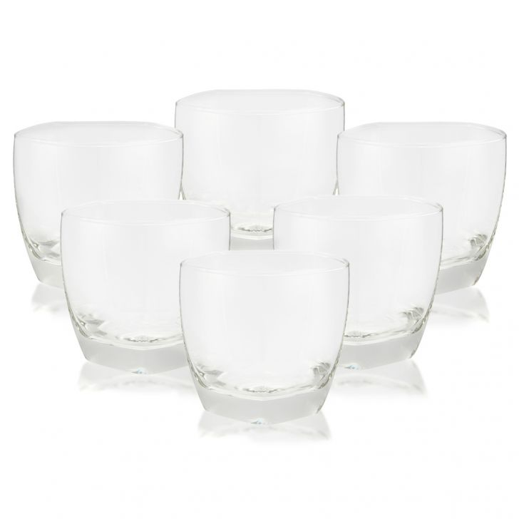 Ocean Sensation Whisky Set Of 6 Pcs Glass Bar Glassware in Transparent Colour by Living Essence