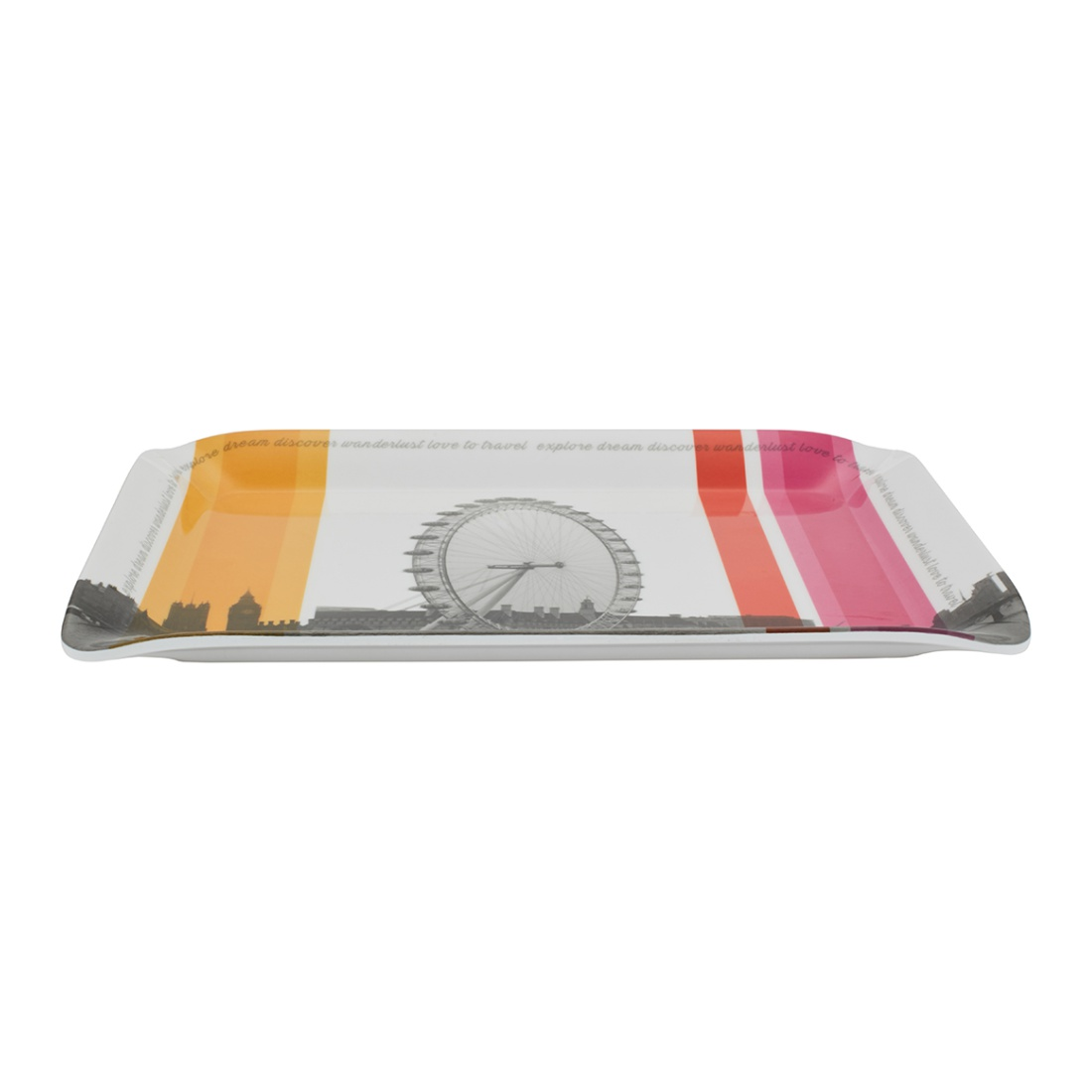 5Th Avenue Tray Food Grade Melamine Trays in Multi Colour Colour by Living Essence