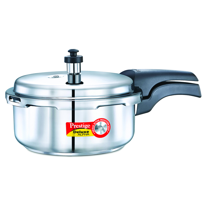 Prestige Deluxe Alpha Stainless Steel Pressure Cooker 2 Ltr Stainless steel Cookers in Silver Colour by Prestige