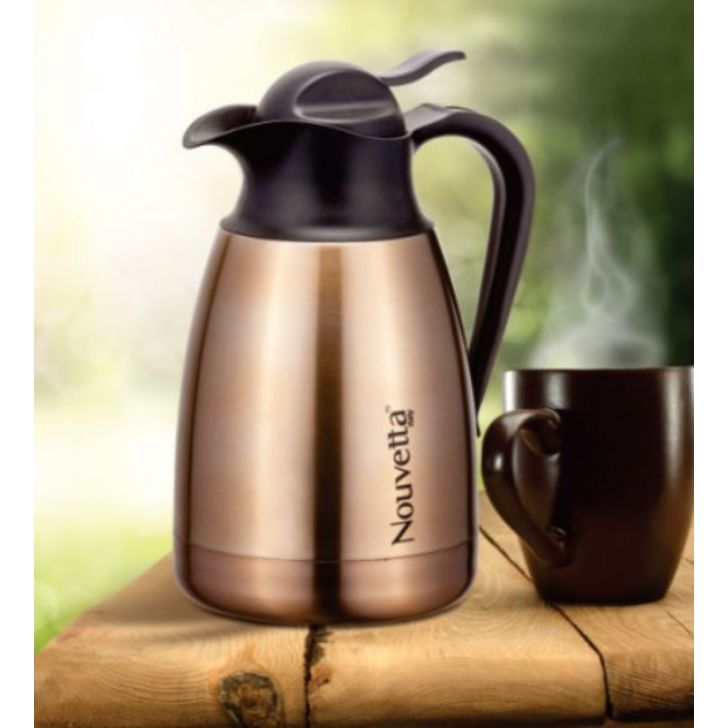 Nouvetta Rome Hot & Cold Coffee Pot 600 ML GOLD Stainless steel Thermoware in Gold Colour by Nouvetta