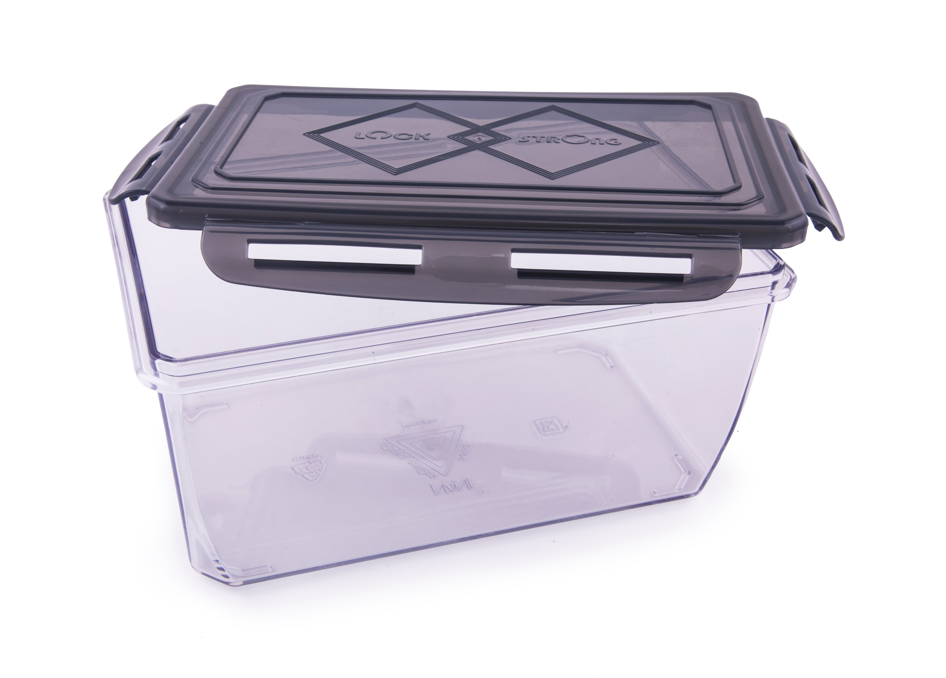 Clara Tritan Container 1700 Ml Plastic Containers in Black Colour by HomeTown