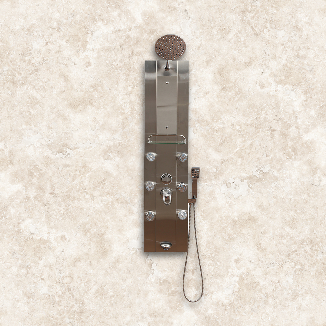 Grace Stainless steel Shower Panel in Metal Finnish Colour by HomeTown