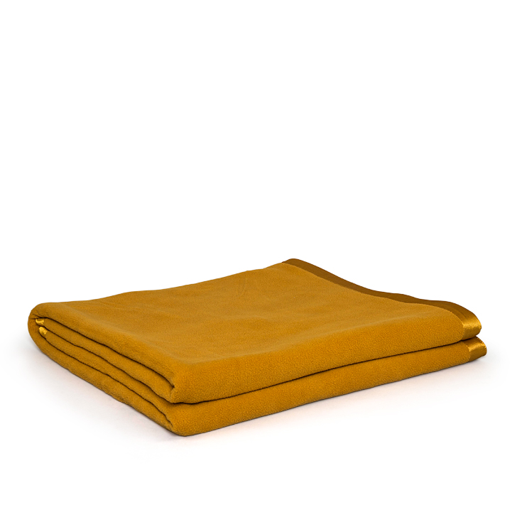 Living Essence Polyester Blankets in Mustard Colour by Living Essence