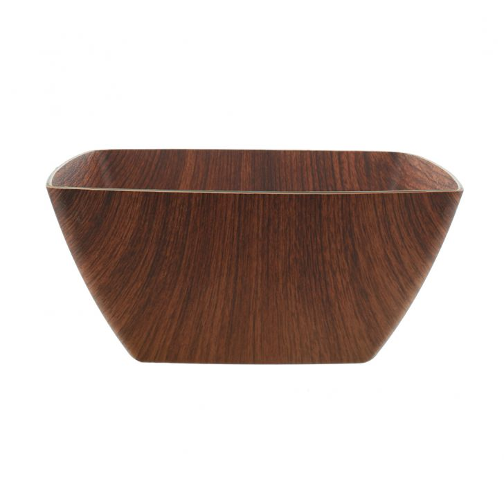 Oak Large Square Bowl Plastic Bowls in Brown Colour by Living Essence
